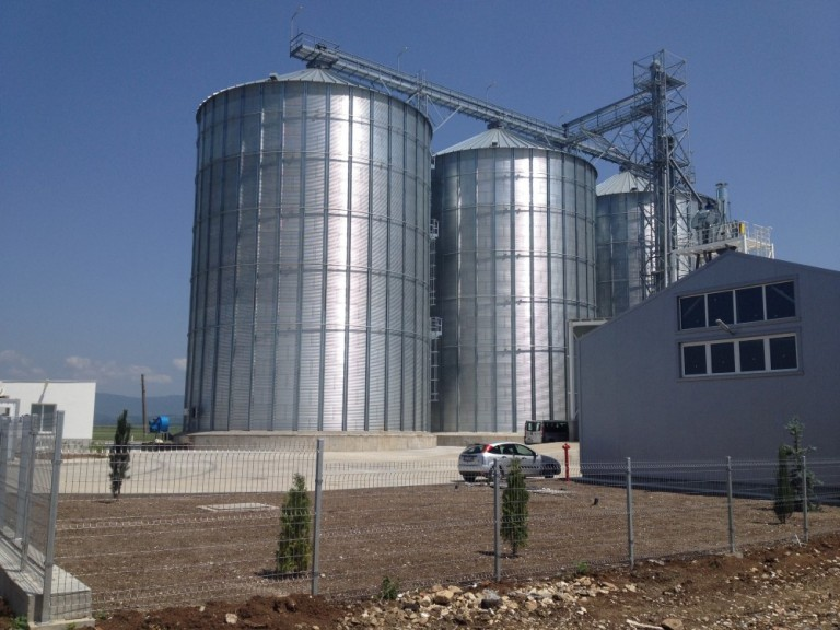 Grain products silos and warehouse
