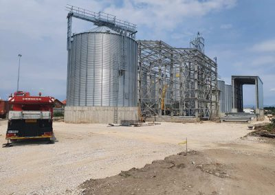 Silo storage of rice crops and seeds and manufacturing hall
